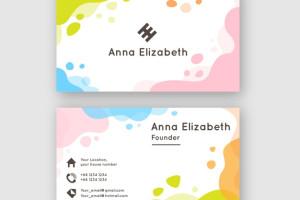 Vektörel Profesyonel Renkli Kartvizit Tasarımı