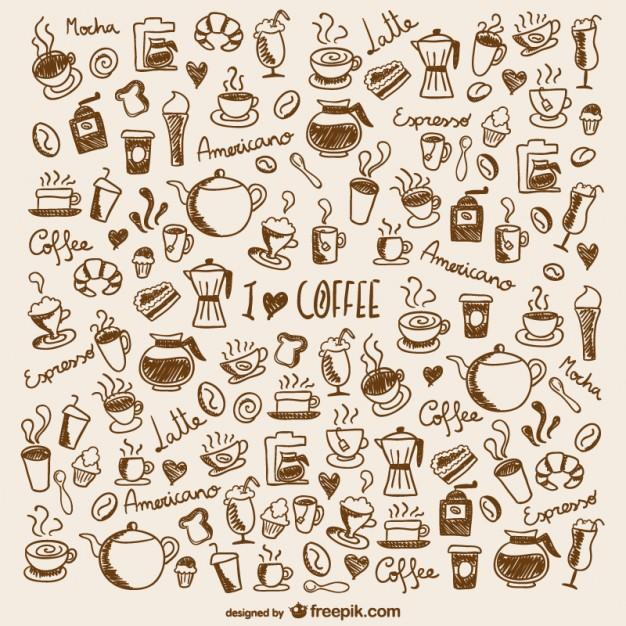 Vektörel Kahve İkon Seti | Ücretsiz Vektör İndir | Vektörel Logo