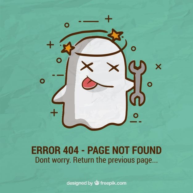 Vektörel Hayalet 404 Sayfası