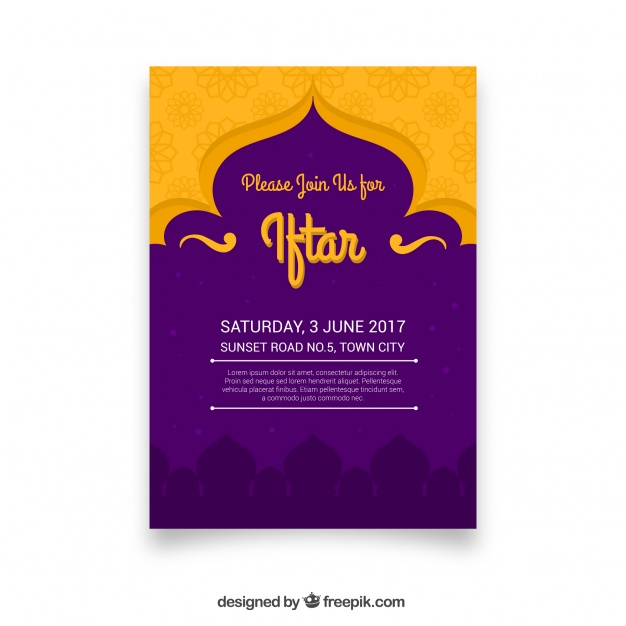 Vektörel Ramazan İftar Davetiyesi