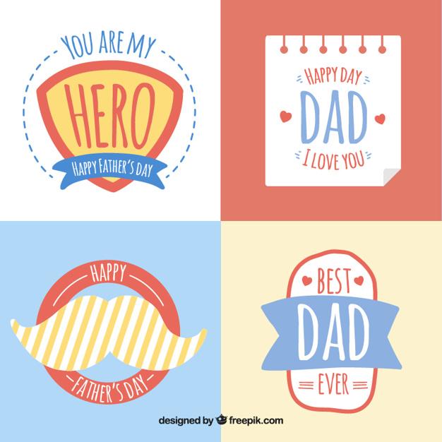 Vektörel Babalar Günü Stickerları
