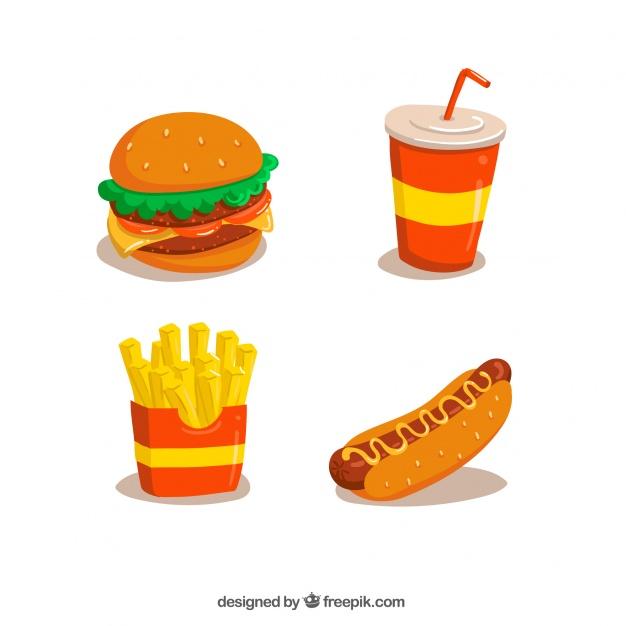 Vektörel Fast Food Çizimleri