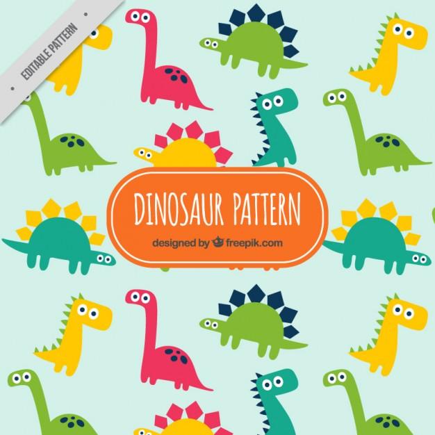 Vektörel Mutlu Dinozorlar