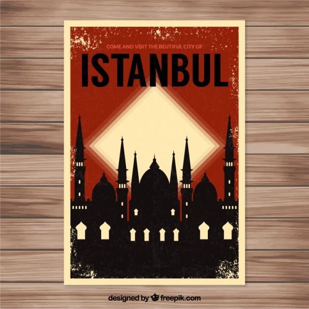 Vektörel İstanbul Afiş Tasarımı