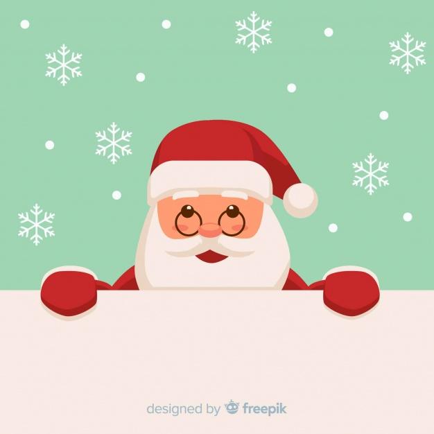 Vektörel Gözlüklü Noel Baba