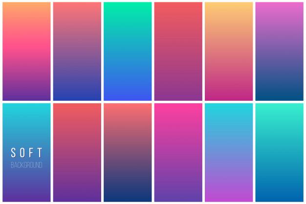 Vektörel Renkli Gradient Arka Planlar