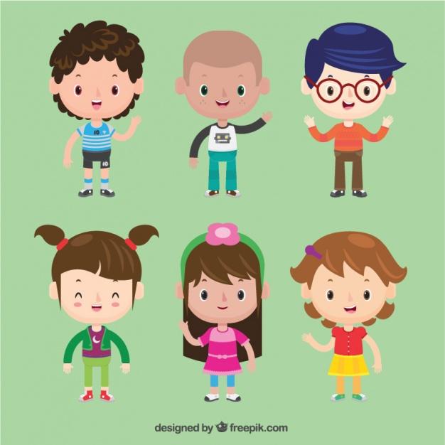 Vektörel Sevimli Çocuk Karakter Tasarımları