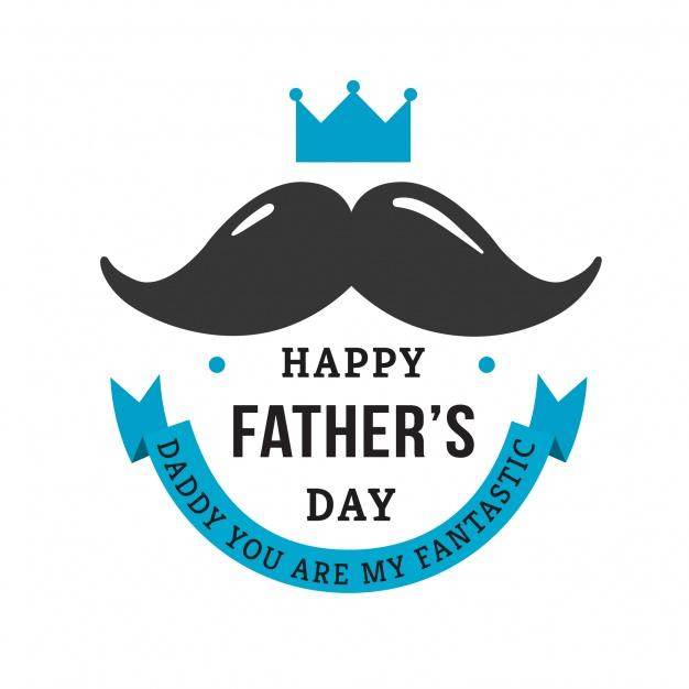 Vektörel Bıyıklı Babalar Günü