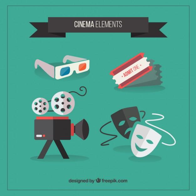 Vektörel Sinema ve Tiyatro İkonları