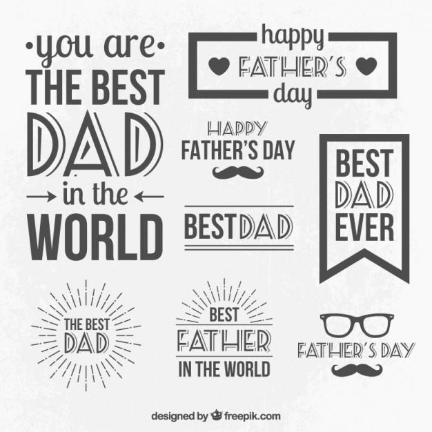 Vektörel Babalar Günü Çizim Seti