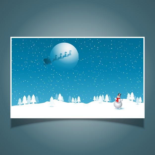 Vektörel Kardan Adam ve Noel Baba