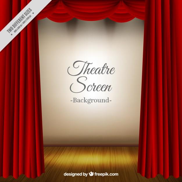 Vektörel Gerçekçi Tiyatro Perdesi