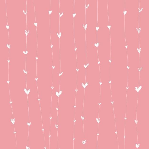 Vektörel Pembe Zeminli Beyaz Kalpler