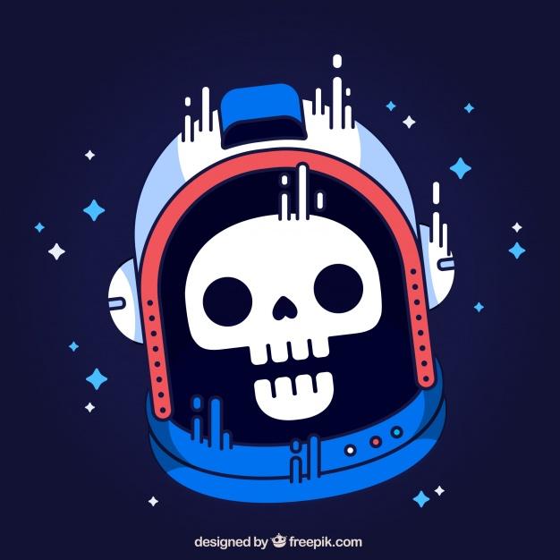 Vektörel Astronot Kurukafa