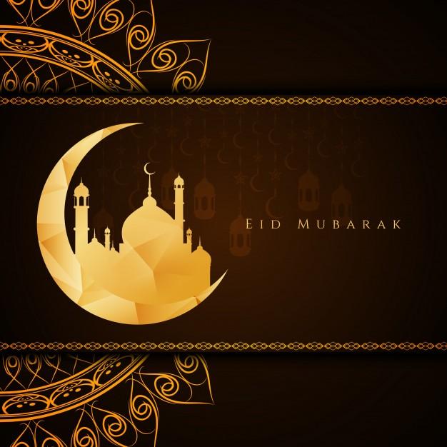 Vektörel Ramazan Ayı Cami ve Hilal