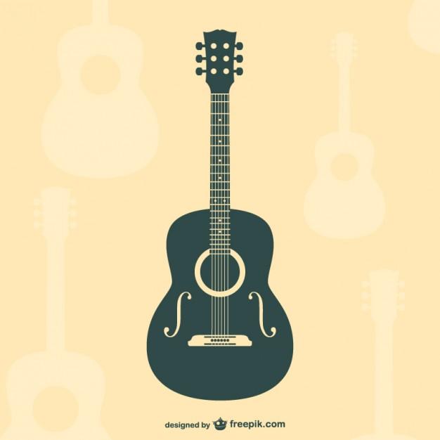 Vektörel Flat Klasik Gitar