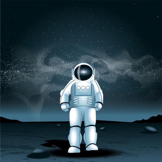 Vektörel Astronot