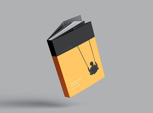 PSD Kalın Kapak Kitap Mockup