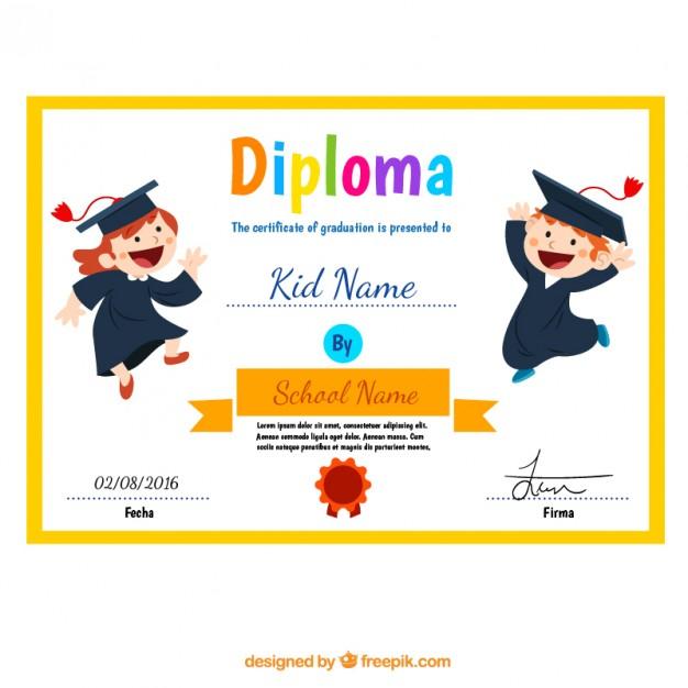 Vektörel Anaokulu Diploma