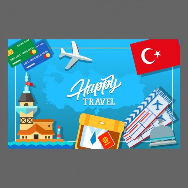 Vektörel Türkiye Turizm