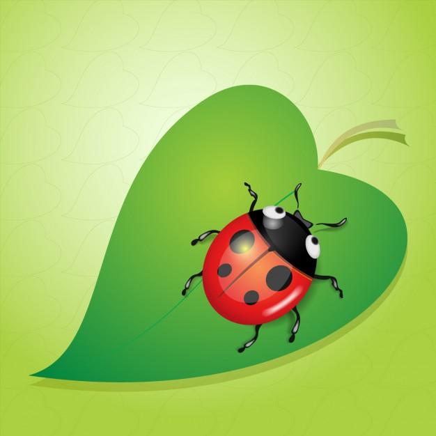 Vektörel Uğur Böceği