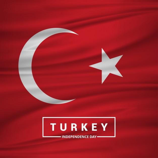 Vektörel Dalgalanan Türk Bayrağı