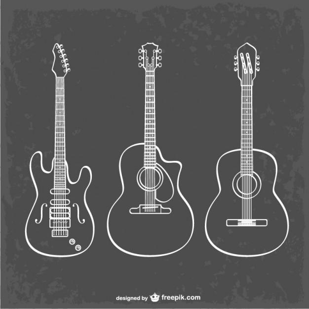 Vektörel Gitar Çizimi