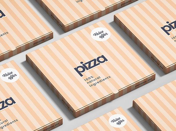 PSD Pizza Kutusu Mockup