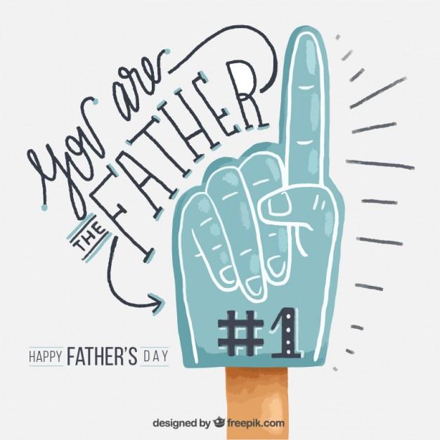 Vektörel Boyalı El Babalar Günü Kutlama