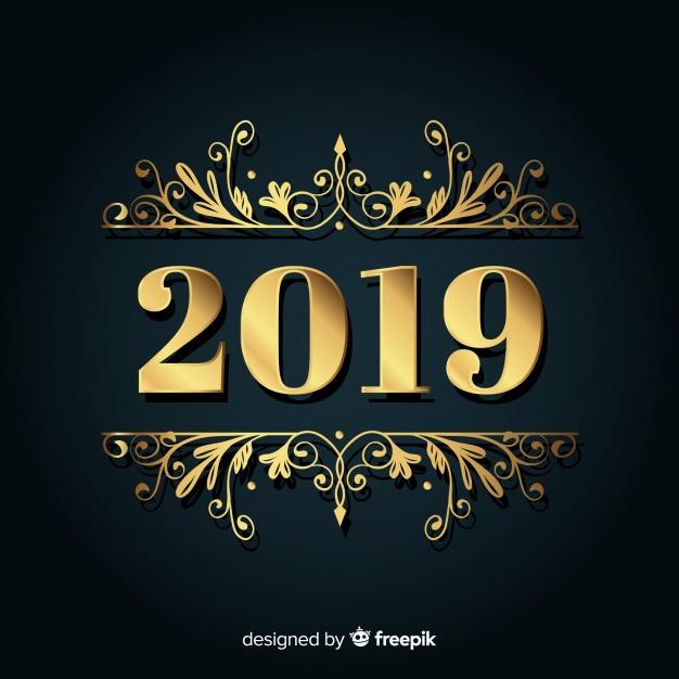 Vektörel 2019 Altın Logo