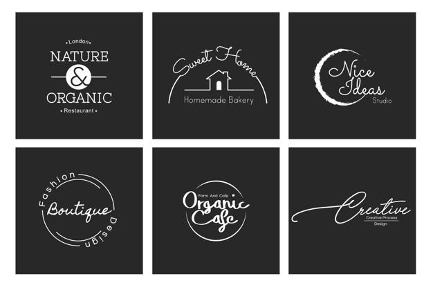 Vektörel Minimal Logolar