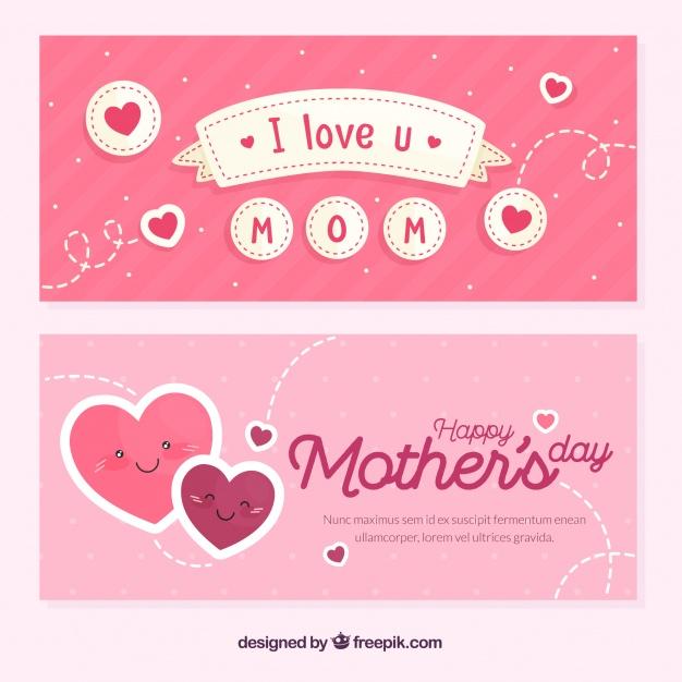 Vektörel Anneler Günü Banner