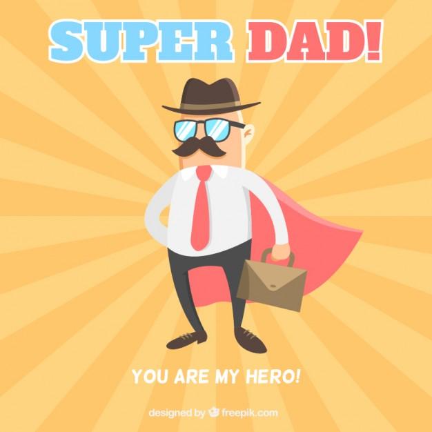 Vektörel Süper Kahraman: Baba