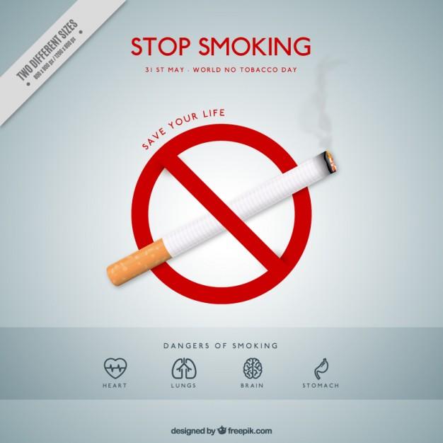 Vektörel Sigara İçmek Yasak