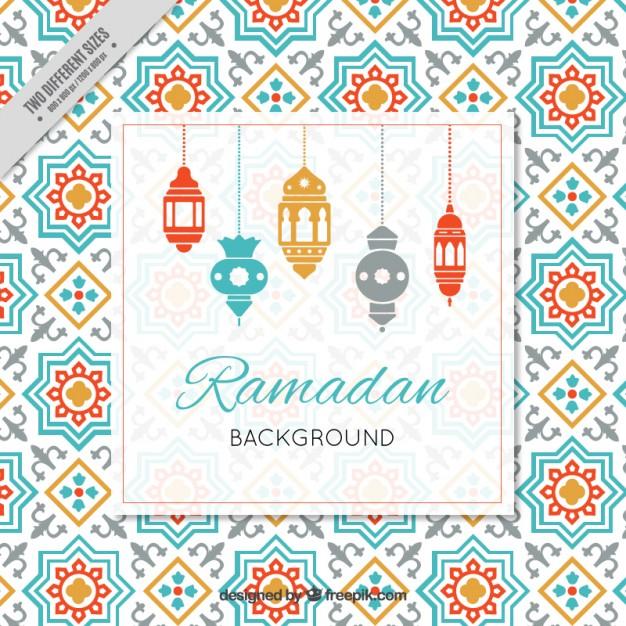Vektörel Ramazan Kandil Davetiye Tasarımı