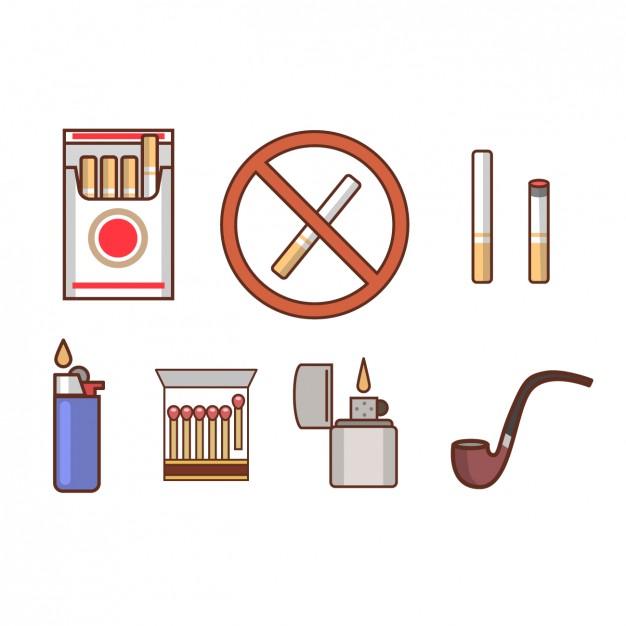 Vektörel Sigara İkonları