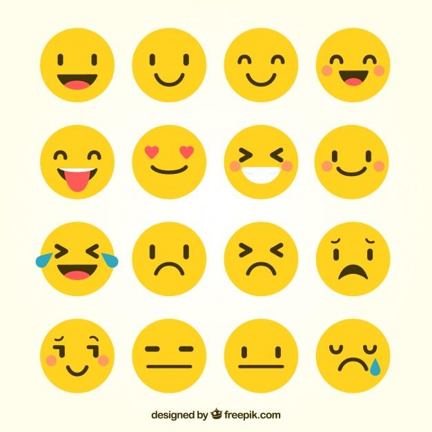 Vektörel Flat Emojiler