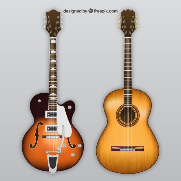 Vektörel Klasik ve Elektro Gitar