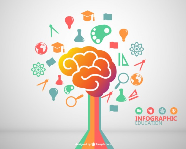 Vektörel İnfografik Eğitim Tasarımı