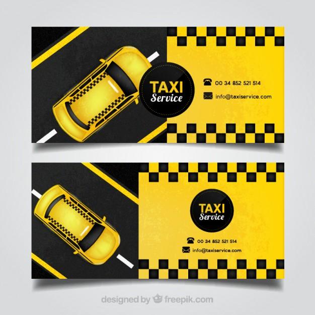 Vektörel Taksici Kartviziti Damalı