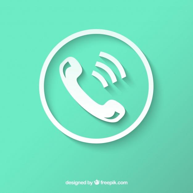 Vektörel Beyaz Telefon İkonu