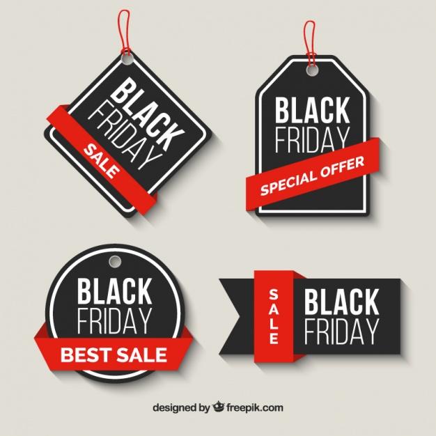 Vektörel Black Friday Etiket Tasarımı