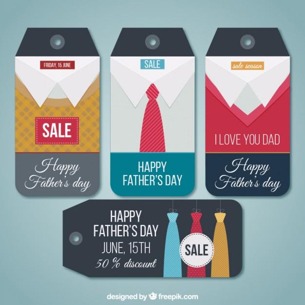 Vektörel Babalar Günü Etiket Tasarımı