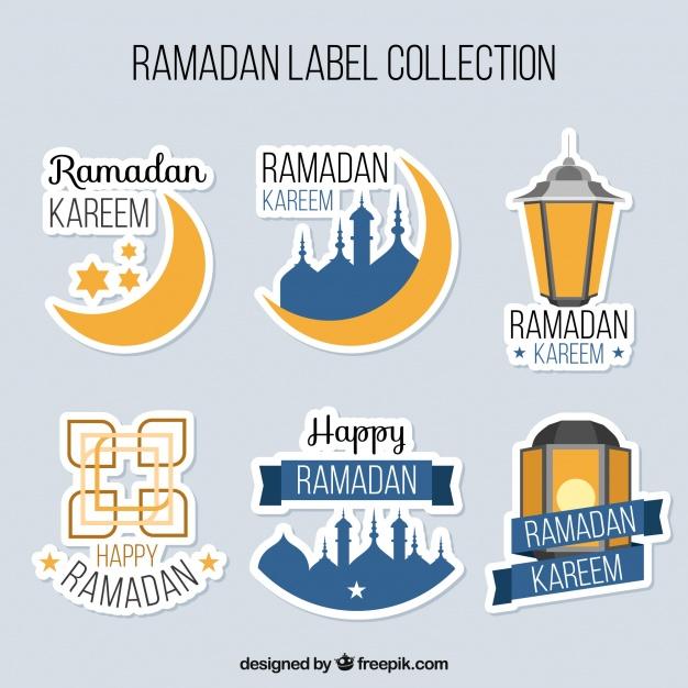 Vektörel Ramazan Çıkartma Tasarımları