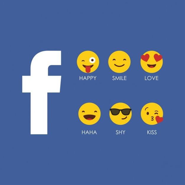 Vektörel Facebook Emojileri
