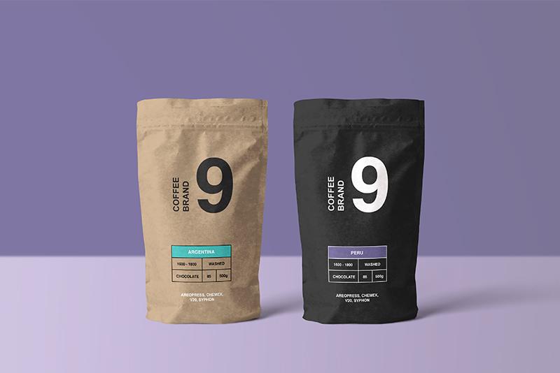PSD Kraft Kahve Kesesi Mockup