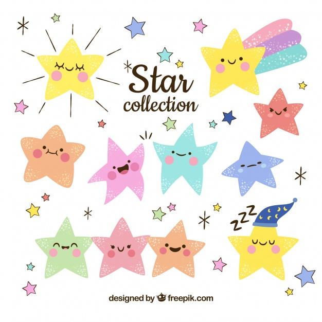 Vektörel Sevimli Yıldızlar