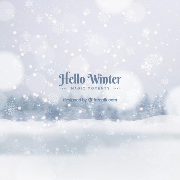 Vektörel Sihirli Kışa Hoşgeldin Davetiyesi