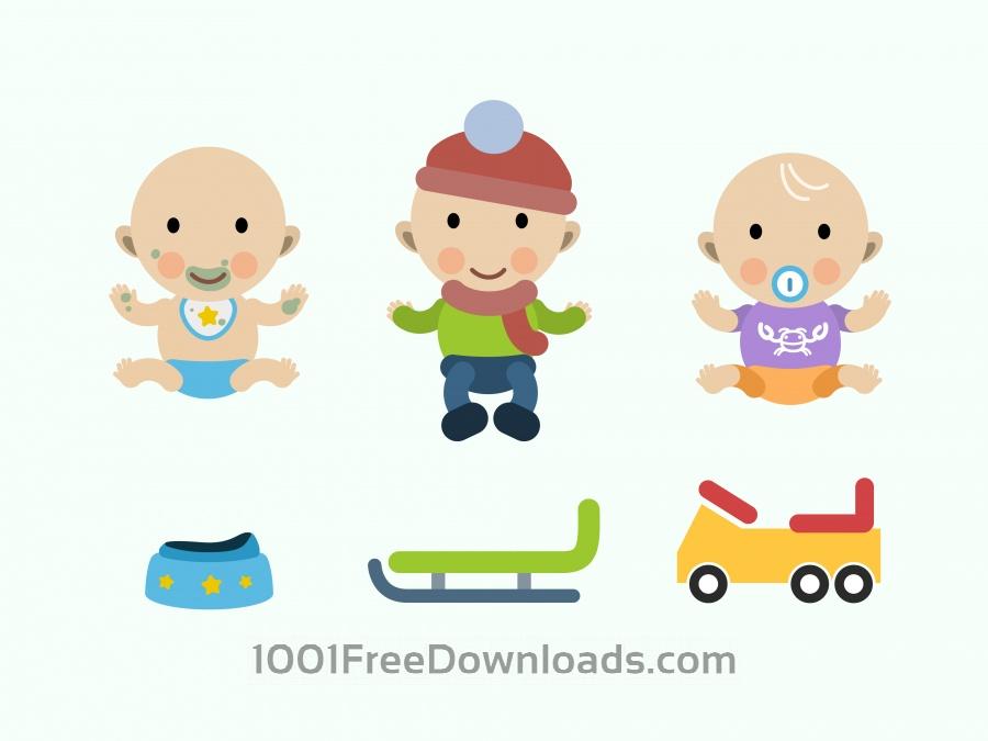 Vektörel Bebek Çizimleri