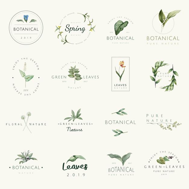 Vektörel Doğal Logo Tasarımları